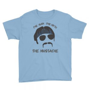 The Man, The Myth, The Mustache Youth Short Sleeve T-Shirt