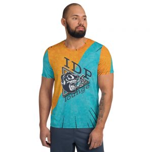 The IDP Lounge All-Over Print Men's Athletic T-shirt